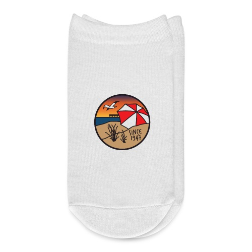Kure Beach Sunrise-White Lettering-Front Only - Ankle Socks