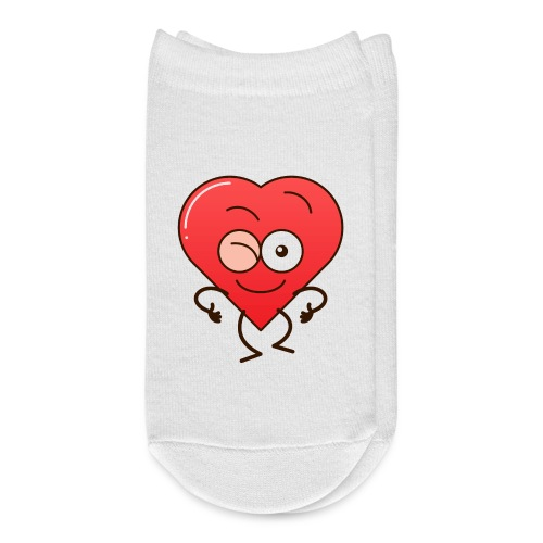 Mischievous heart winking and making thumbs up - Ankle Socks