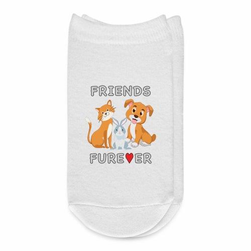 Friends Forever BFF Dog Cat Bunny Rabbit Kids Gift - Ankle Socks