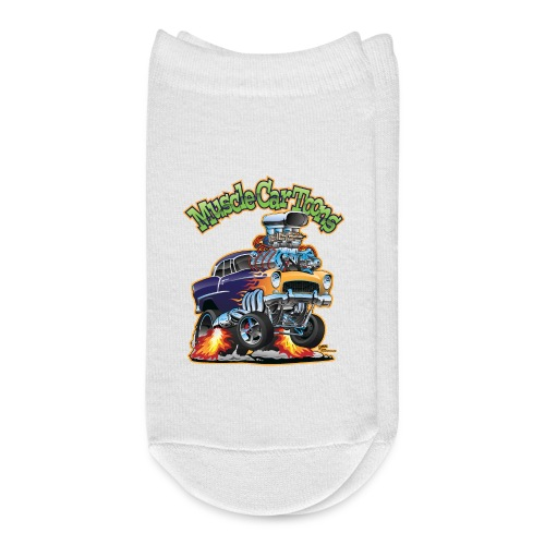 Muscle Car Toons Automotive Comic Book Cover Art - Ankle Socks