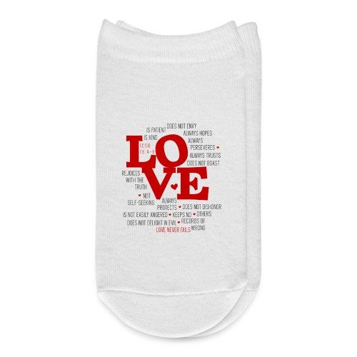 Love by 1 Corinthians 13 - Ankle Socks