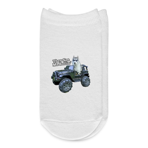 They See Me Rollin' Memphis the Siberian Husky - Ankle Socks