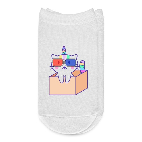 Unicorn cat with 3D glasses doing Vision Therapy! - Ankle Socks