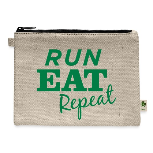 Run Eat Repeat buttons medium - Carry All Pouch