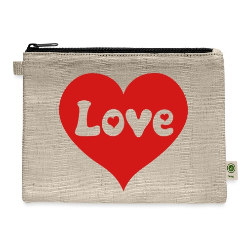 Love Heart - Carry All Pouch