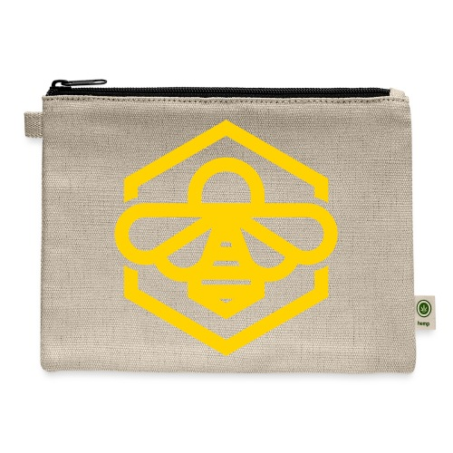 bee symbol orange - Carry All Pouch