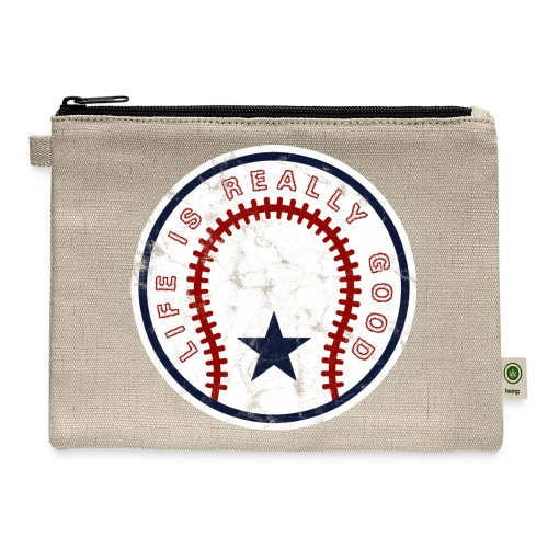 Life Is Really Good Baseball - Carry All Pouch