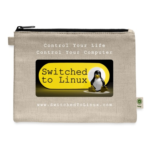Switched To Linux Logo and White Text - Carry All Pouch
