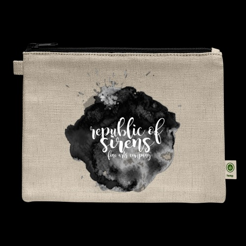 ROS FINE ARTS COMPANY - Black Aqua - Carry All Pouch