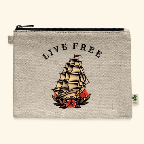 LIVE FREE - Carry All Pouch