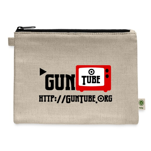 GunTube Shirt with URL - Carry All Pouch