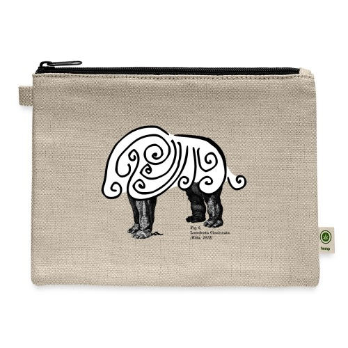 Curly Elephant - Carry All Pouch