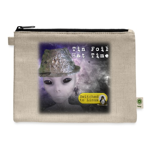 Tin Foil Hat Time (Space) - Carry All Pouch