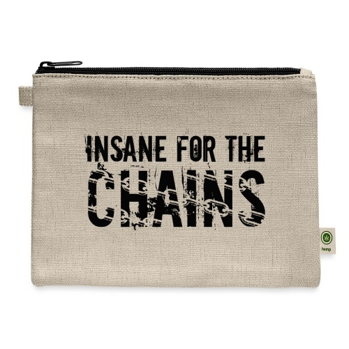Insane For the Chains Disc Golf Black Print - Carry All Pouch