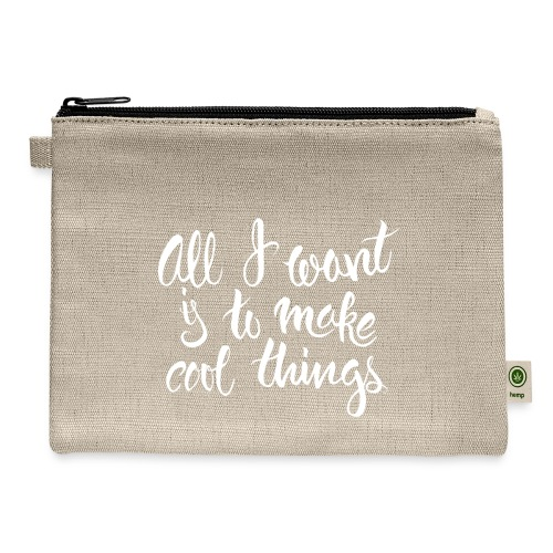 Cool Things White - Carry All Pouch