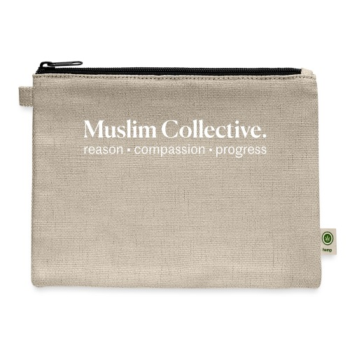 Muslim Collective Logo + tagline - Carry All Pouch