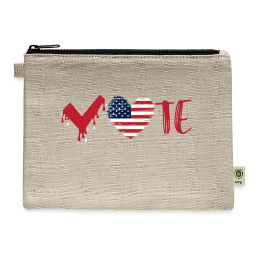vote heart red - Carry All Pouch