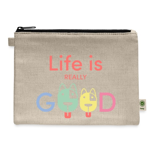 Life Is Really Good Dogs - Carry All Pouch