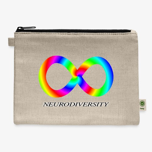 Neurodiversity with Rainbow swirl - Carry All Pouch