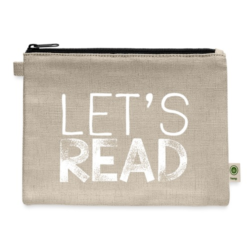 Let's Read Teacher Pillow Classroom Library Pillow - Carry All Pouch