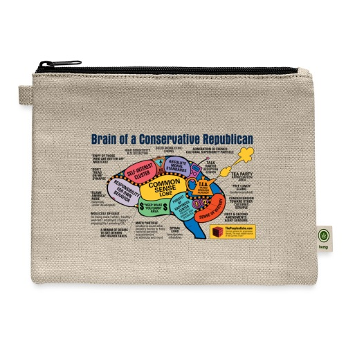 Brain of a Conservative Republican - Carry All Pouch