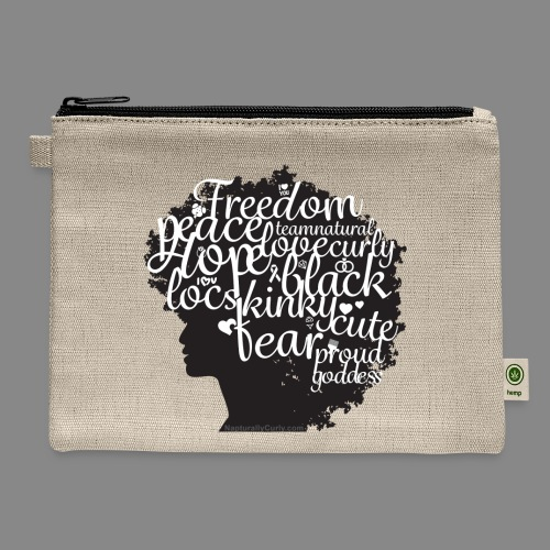 Afro Text II - Carry All Pouch