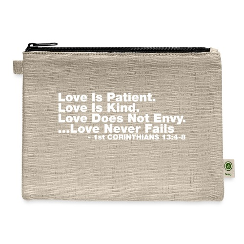 Love Bible Verse - Carry All Pouch