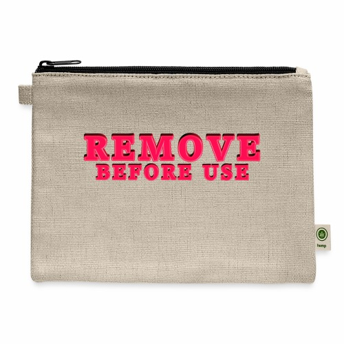 Remove Before Use for light - Carry All Pouch