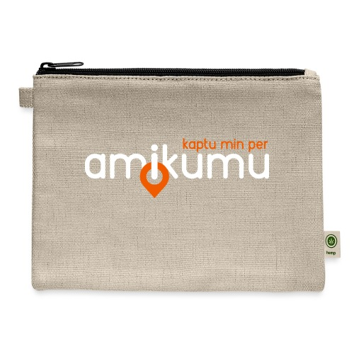 Kaptu min per Amikumu Blanka - Carry All Pouch