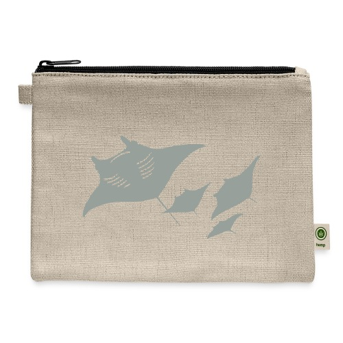 manta ray sting scuba diving diver dive - Carry All Pouch