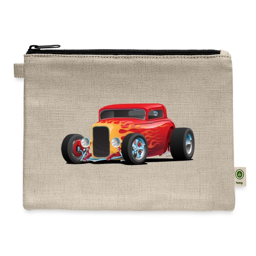 Classic Bold Red Custom Street Rod - Carry All Pouch
