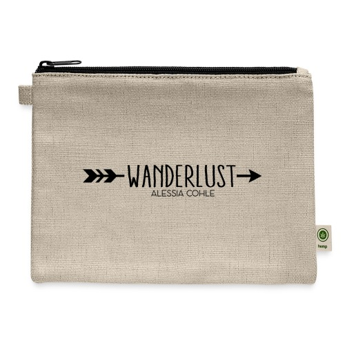 Wanderlust (black logo) - Carry All Pouch