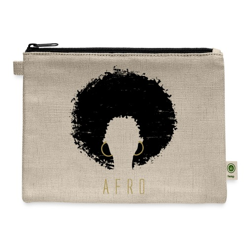 Black Afro American Latina Natural Hair - Carry All Pouch