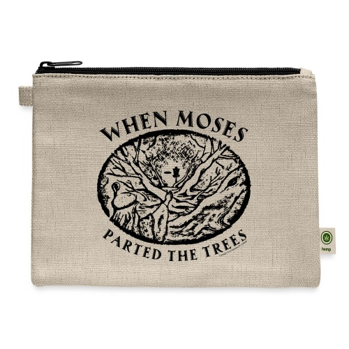 When Moses Parted the Trees Disc Golf Shirts Gifts - Carry All Pouch