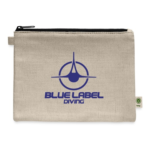BLD logo with text blue - Carry All Pouch