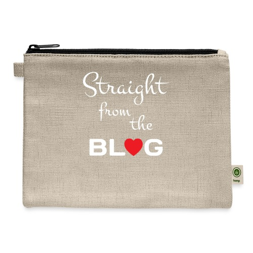 STRAIGHT FROM THE BLOG [FUN BLOGGER SHIRT] - Carry All Pouch