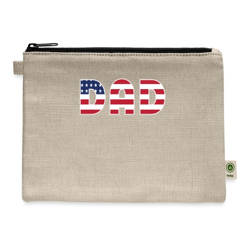 DAD + US Flag - Carry All Pouch