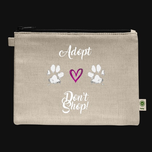 Adopt, don't shop! (white) - Carry All Pouch