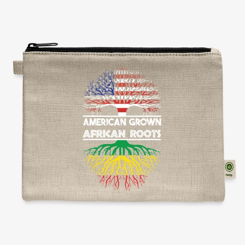 American Grown With African Roots T-Shirt - Carry All Pouch