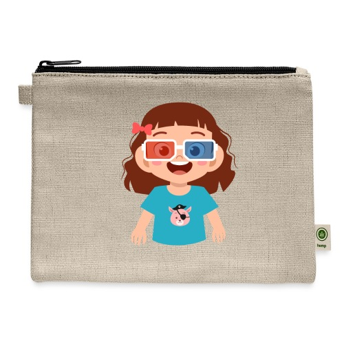 Girl red blue 3D glasses doing Vision Therapy - Carry All Pouch