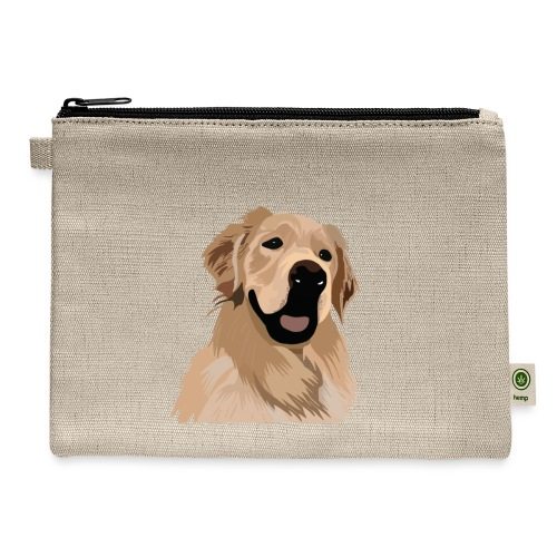 Hand illustrated golden retriever print / goldie - Carry All Pouch
