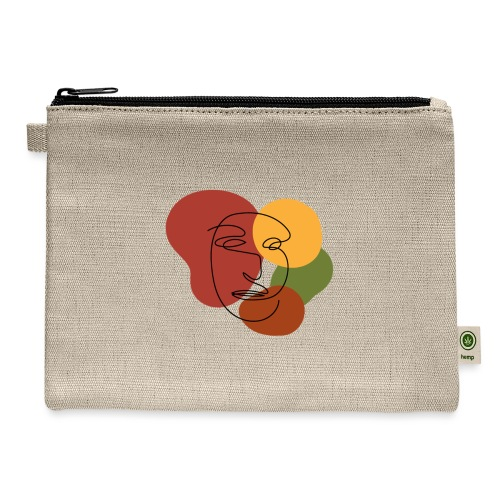 abstract minimalist face - Carry All Pouch