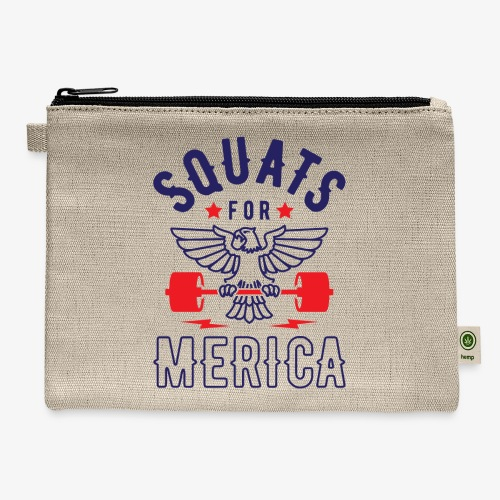 Squats For Merica v2 - Carry All Pouch