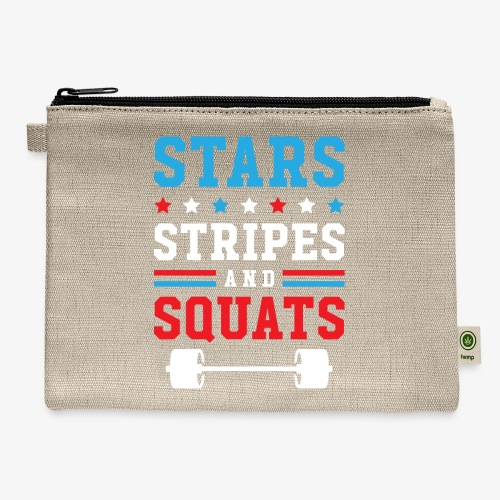 Stars, Stripes And Squats v2 - Carry All Pouch