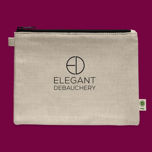 Elegant Debauchery Logo Stacked - Carry All Pouch