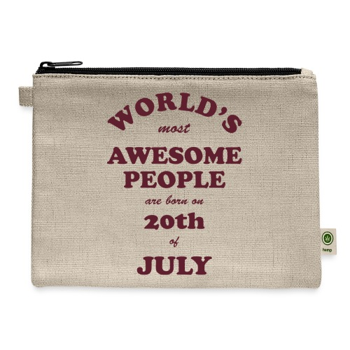 Most Awesome People are born on 20th of July - Carry All Pouch