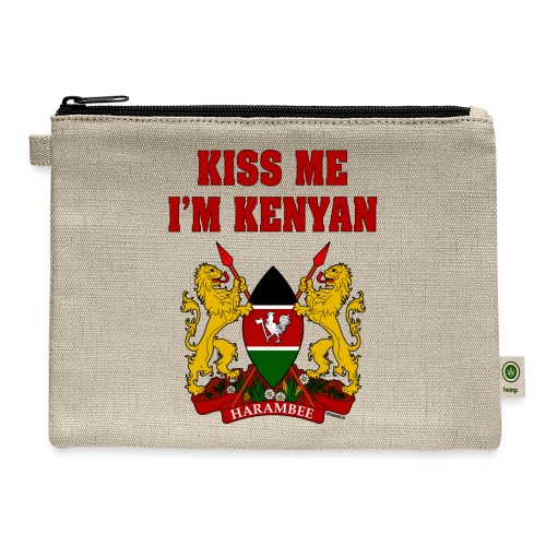 Kiss Me, I'm Kenyan - Carry All Pouch