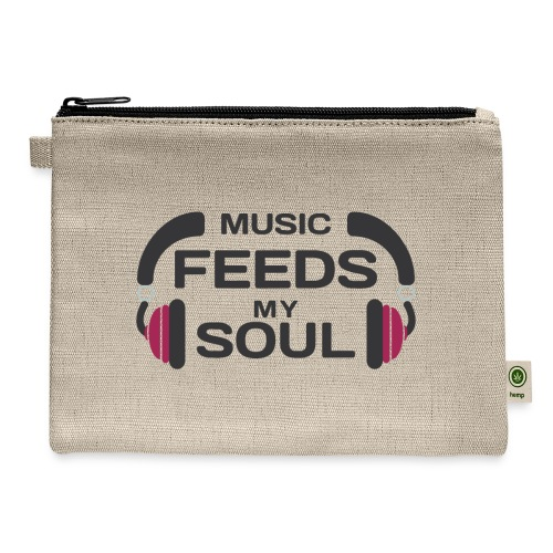 music feeds my soul - Carry All Pouch