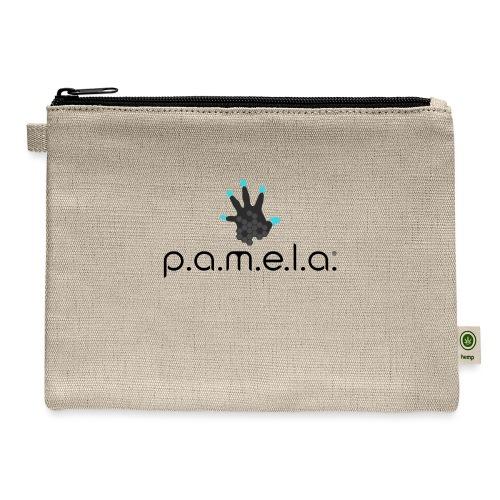 P.A.M.E.L.A. Logo Black - Carry All Pouch
