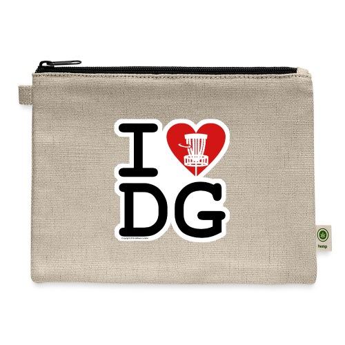 I Love (Heart) Disc Golf Shirt & Accessories - Carry All Pouch